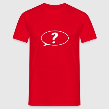 speech bubble ? - Men's T-Shirt