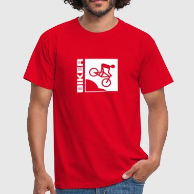 Biker Mountainbike Bike MTB Downhill sport biking cycling - Men's T-Shirt