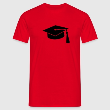 graduation hat v2 - Mannen T-shirt