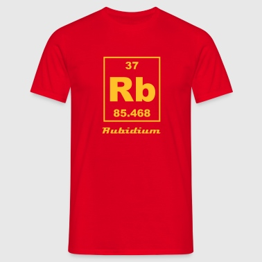 Element 37 - Rb (rubidium) - Small - Männer T-Shirt