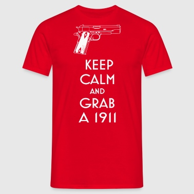 1911 fan t-shirt behåll lugn preppers shooters - T-shirt herr