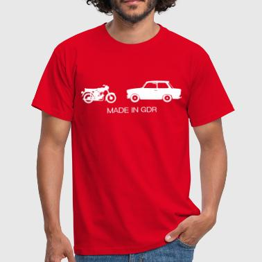 Auto's Made in GDR  - Mannen T-shirt