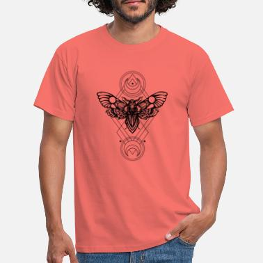 Butterfly sacred geometry - Geometric -Sfinge dead head - Men's T-Shirt