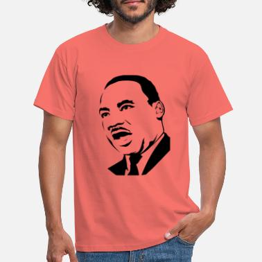 Martin martin luther king stencil - Mannen T-shirt