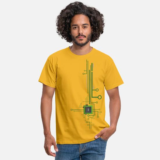 Geek T-Shirts - Works with CPU Shirt - Men's T-Shirt yellow