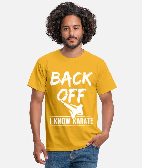 Offensive T-Shirts - Karate Back Off - Men's T-Shirt yellow