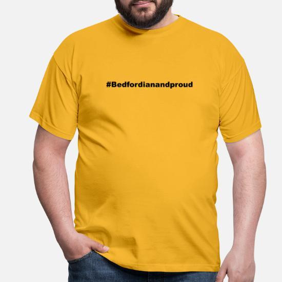 Hashtag Bedford T skjorte for menn   Spreadshirt