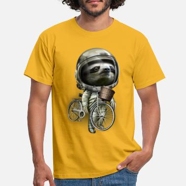 Sloth WITH MY BIKE ALONG - Men's T-Shirt