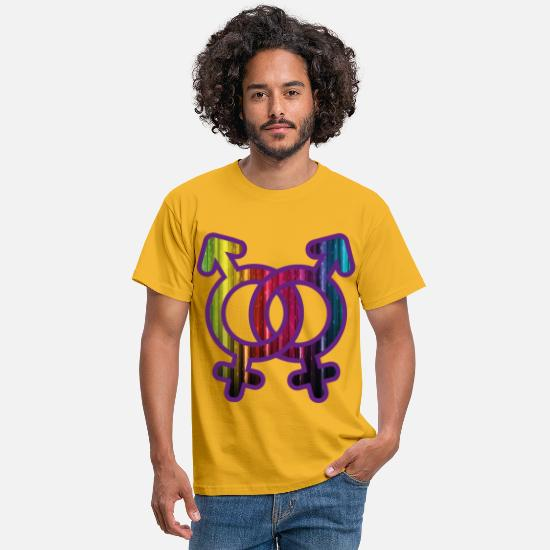 Bestsellers Q4 2018 T-Shirts - love has no gender - Men's T-Shirt yellow