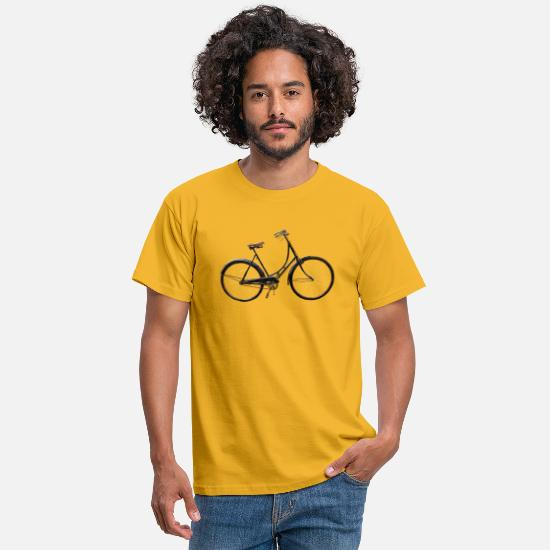 Retro T-Shirts - Female bike - Men's T-Shirt yellow
