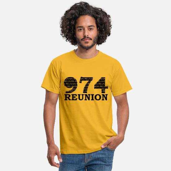 Run T-Shirts - 974 MEETING MEETING - Men's T-Shirt yellow