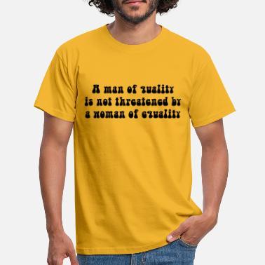 Bestill Mannlig Sitater T skjorter på nett | Spreadshirt