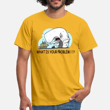 Upset moby dick gets upset - Camiseta hombre