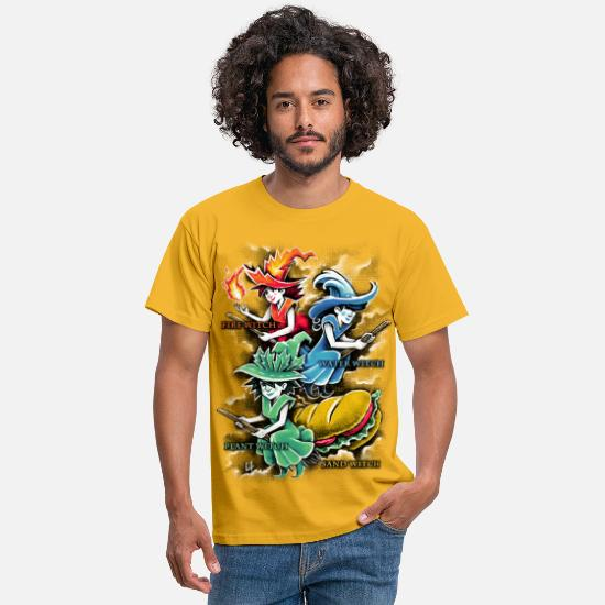 Magique T-shirts - Types of Witches - T-shirt Homme jaune