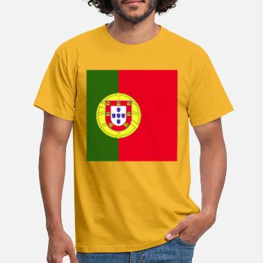 Nations Unies Drapeau carré du Portugal - T-shirt Homme