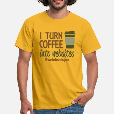 Transformation du café en site web - T-shirt Homme