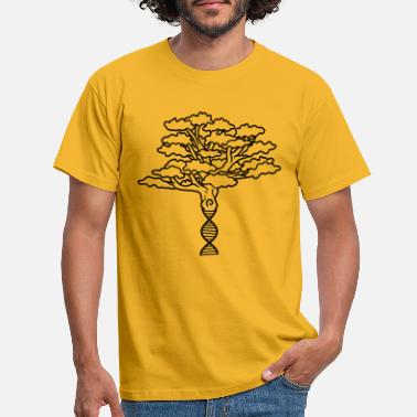 Leaves world dna dns pedigree nature heritage inherit tree - Men's T-Shirt