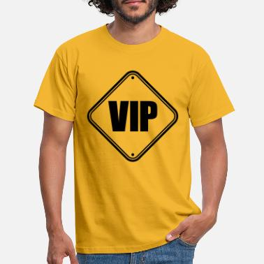 Note Clue Sign pointing VIP - Men's T-Shirt