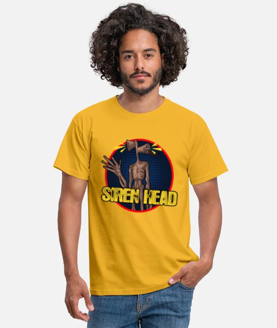 Sirenehoved T-shirts - Sirenhoved med logo - T-shirt mænd gul