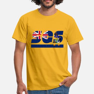 SGS flag South Georgia Atlantic flag gift idea - Men's T-Shirt