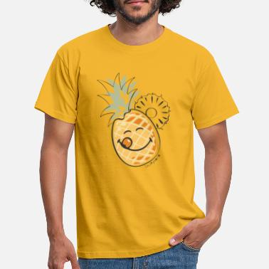 Ananas SmileyWorld 'Juicy Pineapple' Enfants Tee Shirt - T-shirt Homme