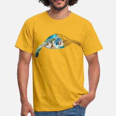 Polygon Turtle polygon sea turtle holiday sea - Men's T-Shirt