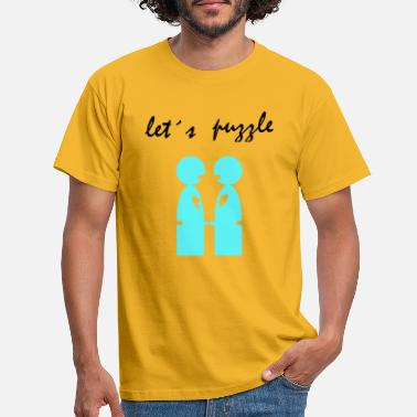 Together let´s puzzle gay - Camiseta hombre