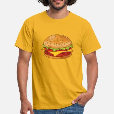 Sesam hamburger - Mannen T-shirt