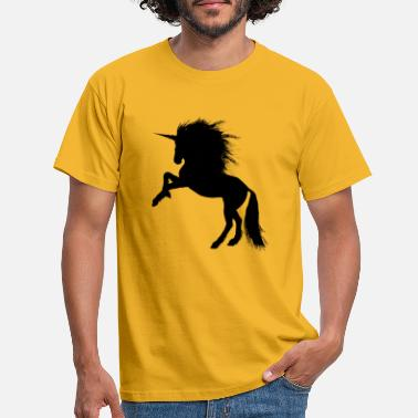 Rearing Unicorn unicorn - Men's T-Shirt