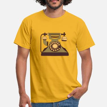 Telephone Handset Telephone handset corded telephone retro gift - Men's T-Shirt