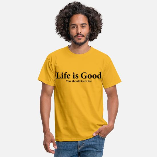 Bestsellers Q4 2018 T-Shirts - Life is good Funnny - Men's T-Shirt yellow