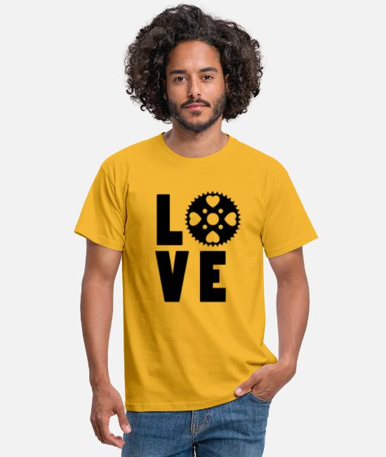 Wheel T-Shirts - Love to Bike - Men's T-Shirt yellow