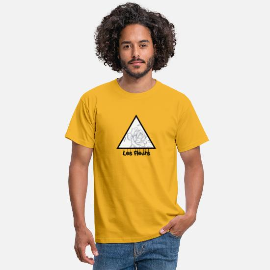 Gift Idea T-Shirts - Les Fleurs Flora - Men's T-Shirt yellow