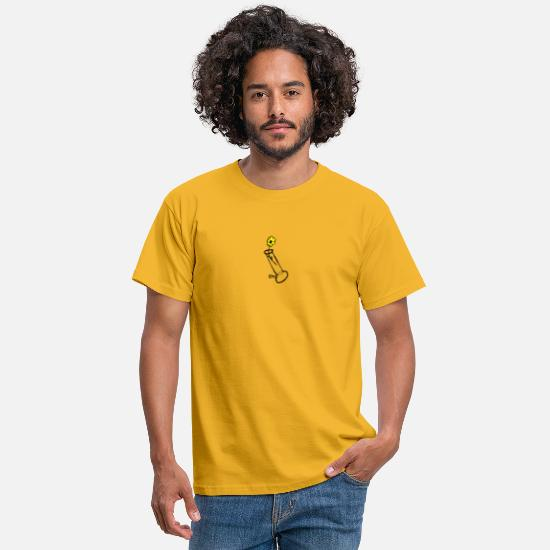 Flowers T-Shirts - Bong with flower - Men's T-Shirt yellow