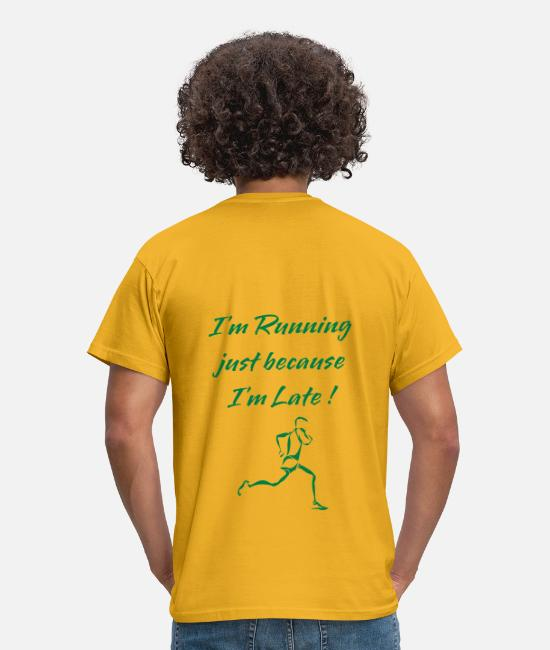 Lazy T-Shirts - Running - Men's T-Shirt yellow