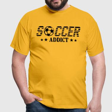 Soccer addict sport ball - Men's T-Shirt