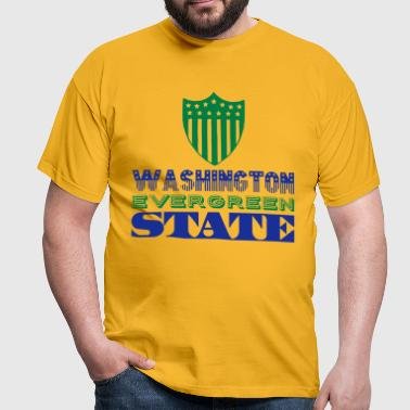 WASHINGTON EVERGREEN STATE - T-shirt Homme