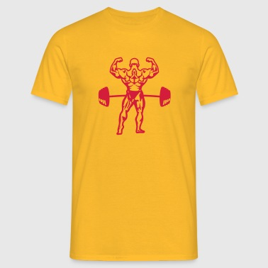 bodybuilder barre musculation - T-shirt Homme
