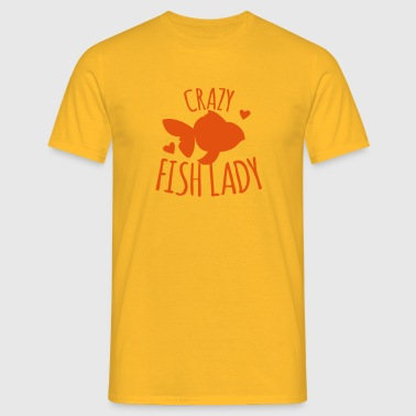 crazy fish lady - Men's T-Shirt