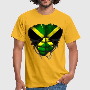 Jamaica flag torso body muscled abdos - Men's T-Shirt