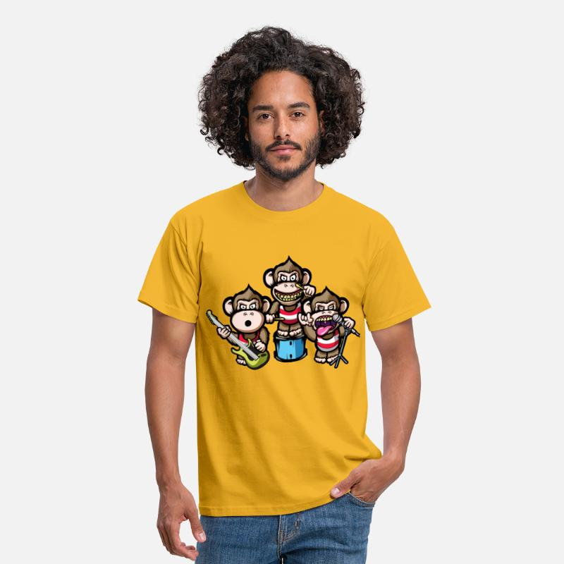 Ape T-Shirts - Apes Rock - Men's T-Shirt yellow