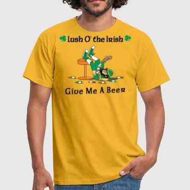 Irish Give Me A Beer - T-skjorte for menn