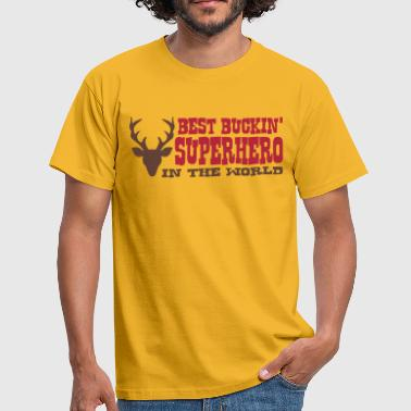 best buckin superhero in the world - Men's T-Shirt