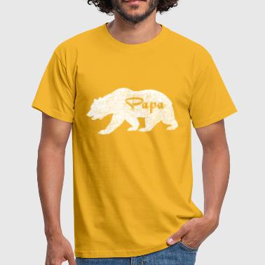 Papa White Bear. Camping - Men's T-Shirt