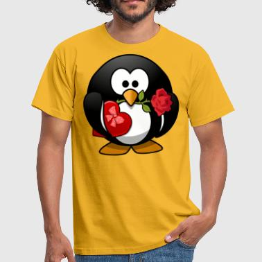 Oli the penguin in love - Men's T-Shirt