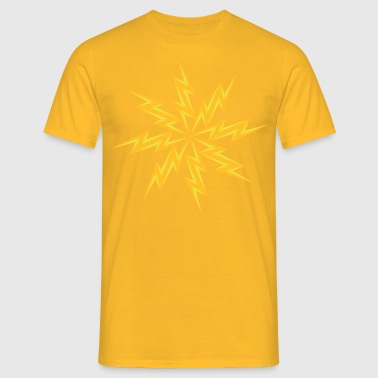 star electric shock danger sign lightning symbol cable - Men's T-Shirt