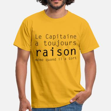 Capitaine le capitaine - T-shirt Homme