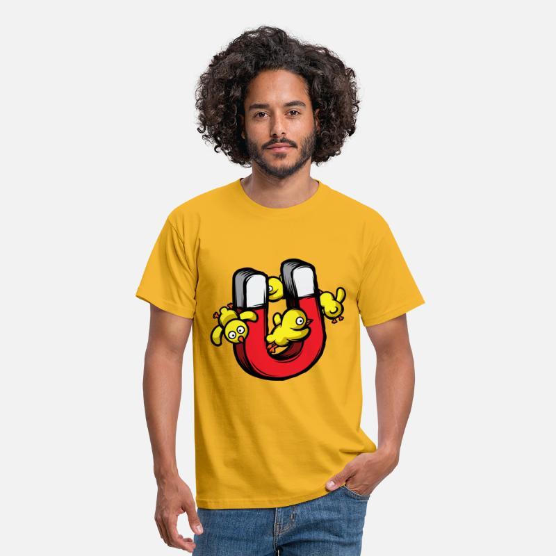 Funny T-Shirts - Chick Magnet - Men's T-Shirt yellow