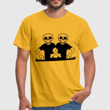 team couple 2 friends duo skeleton schaedel horror ha - Men's T-Shirt