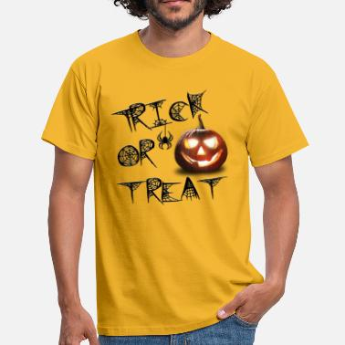 Kürbis Halloween Kürbis Trick or Treat - Männer T-Shirt